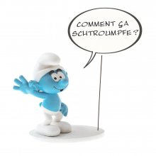 The Smurfs Collectoys Comics Speech Socha Smurf 22 cm *French V