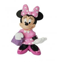 Mickey Mouse Clubhouse Figure Minnie with bag 7 cm