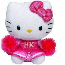 Hello Kitty plyšová hračka Cheerleader Kitty 15cm