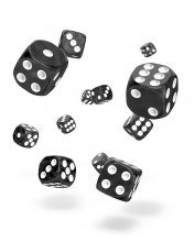 Oakie Doakie Kostky D6 Dice 12 mm Marble - Black (36)