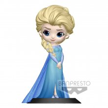 Disney Q Posket Mini Figure Elsa A Normal Color Version 14 cm