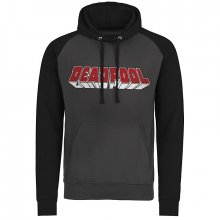 Deadpool slim fit mikina Distressed Logo