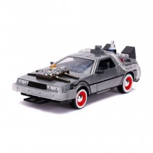 Back to the Future III Hollywood Rides kovový model 1/24 DeLore