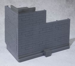 Tamashii Option Akční figurka Accessory Brick Wall (Gray Ver.) 2