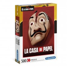 Money Heist skládací puzzle Mask (500 pieces)