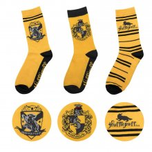 Harry Potter ponožky 3-Pack Hufflepuff