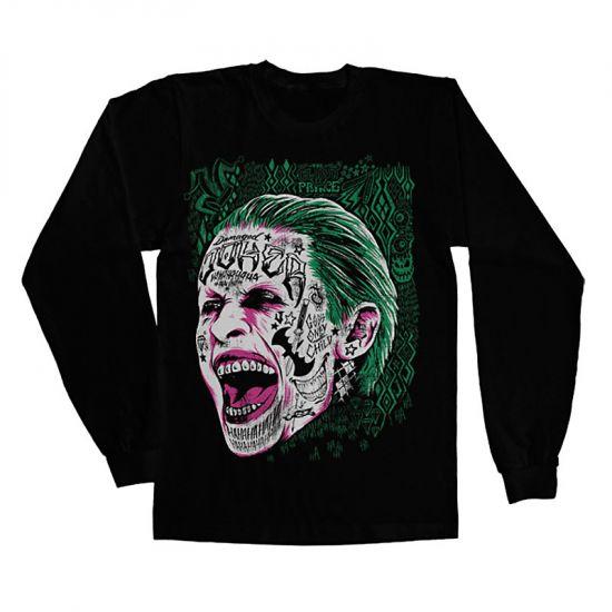 c40164d2744 Suicide Squad Joker triko s dlouhým rukávem Sebevražedný oddíl  WB ...