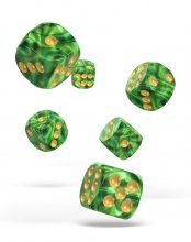 Oakie Doakie Kostky D6 Dice 16 mm Gemidice - Jungle (12)