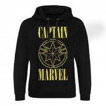 Captain Marvel hoodie mikina Yellow Grunge Logo