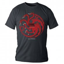 Game of Thrones tričko Targaryen Fire And Blood velikost M