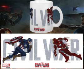 Captain America Civil War Mug Running To Battle