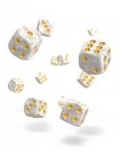 Oakie Doakie Kostky D6 Dice 12 mm Marble - White (36)