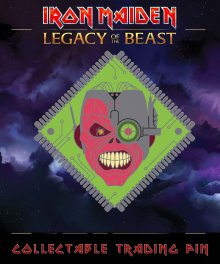 Iron Maiden Legacy of the Beast Odznak Cyborg Eddie