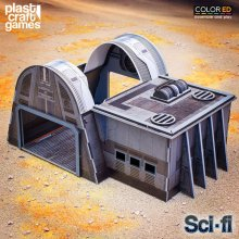 Sci-fi ColorED Miniature Gaming Model Kit 28 mm Continuum Hangar