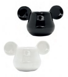 Mickey Mouse 3D Espresso Hrneks 2-Pack Black & White