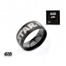 Star Wars Ring Black Star Wars Logo Size 10