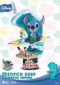 Disney Summer Series D-Stage PVC Diorama Stitch Surf Special Edi