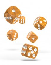 Oakie Doakie Kostky D6 Dice 16 mm Marble - Orange (12)
