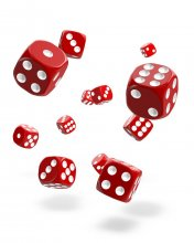 Oakie Doakie Kostky D6 Dice 12 mm Solid - Red (36)