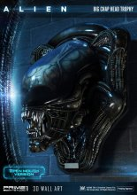 Alien 3D Wall Art Warrior Alien Head Trophy Open Mouth Version 5