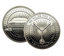 Back to the Future Collectable Coin 88 Miles (silver plated)