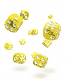 Oakie Doakie Kostky D6 Dice 12 mm Translucent - Yellow (36)