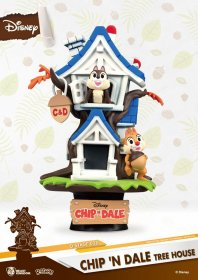 Disney Summer Series D-Stage PVC Diorama Chip 'n Dale Tree House