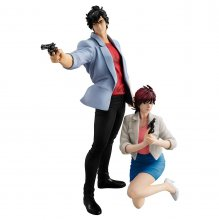 City Hunter Private Eyes G.E.M. Series PVC Statues Saeba Ryo & M