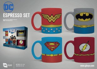 DC Comics hrnky na espresso 4-Pack Uniforms