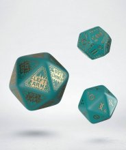 RuneQuest Dice Expension Set turquoise & gold (3)