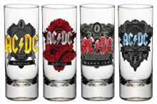 AC/DC panáky 4-Pack Black Ice