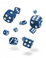 Oakie Doakie Kostky D6 Dice 12 mm Marble - Blue (36)