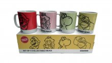 Super Mario Bros. Mug 4-Pack
