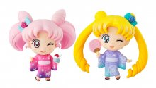 Sailor Moon Petit Chara mini figurka 2-Pack Sailor Moon & Chibiu