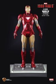 Iron Man 3 Life-Size Socha Iron Man Mark VI DX Base 210 cm