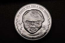 Child's Play Collectable Coin 25th Anniversary Chucky (silver pl