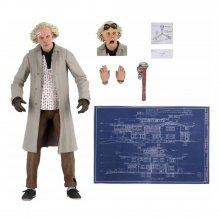 Back to the Future Akční figurka Ultimate Doc Brown 18 cm