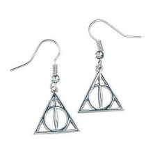 Harry Potter Deathly Hallows Naušnice (silver plated)