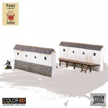 Kensei ColorED Miniature Gaming Model Kit 28 mm Castle Wall (2x)