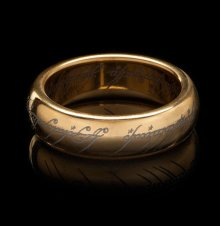 Lord of the Rings Tungsten Ring The One Ring (gold plated) Size