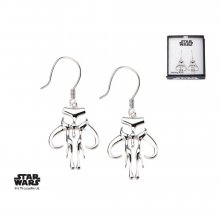 Star Wars Earrings Mandalorian Symbol Sterling Silver)