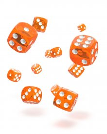 Oakie Doakie Kostky D6 Dice 12 mm Translucent - Orange (36)