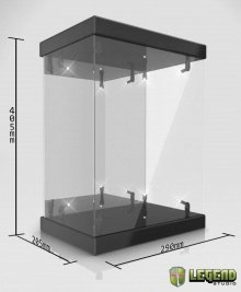 Master Light House Acrylic Display Case with Lighting for 1/6 Ac