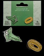 Lord of the Rings Collectors Pins 2-Pack Elfen Leaf & One Ring