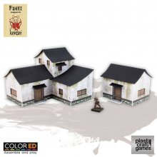 Kensei ColorED Miniature Gaming Model Kit 28 mm Feudal Dwelling