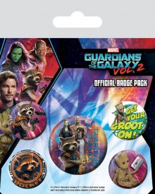 Guardians of the Galaxy Vol. 2 sada odznaků 5-Pack Rocket & Groo