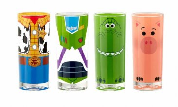 Toy Story 4 Juice Glass 4-Pack Buzz, Woody, Rex & Hamm