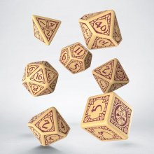 Divinity: Original Sin 2 Dice Set beige & burgundy (7)