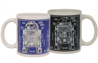 Star Wars Heat Change Mug Blueprint R2-D2