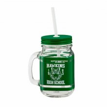 Stranger Things Mason Jar Glass Hawkins High School Case (6)